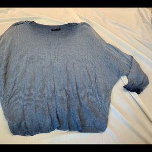 M MADE IN ITALY BLUE OMBRÉ SWEATER SZ L
